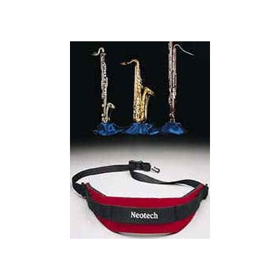 Neotech Soft Saxophone Strap with Swivel Hook - Wine Red - Neotech - 1906162