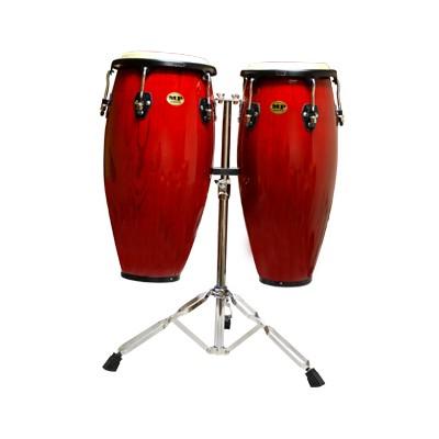 """Mano Percussion MP1601 Double Congas - Red Wine, 10""""/11"""" - Mano Percussion - MP1601-RW"""