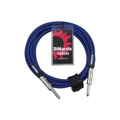 Dimarzio 10ft Overbraid Electric Blue Guitar/Instrument Cable - EP-1710EB - Dimarzio - EP1710 ELC BLUE