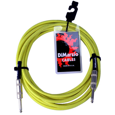 Dimarzio 10ft Overbraid Neon Green Guitar/Instrument Cable - EP-1710NG - Dimarzio - EP1710 N GREEN