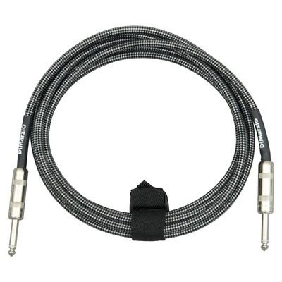 Dimarzio 18ft Overbraid Black/Gray Guitar/Instrument Cable - EP-1718BG - Dimarzio - EP-1718 BG