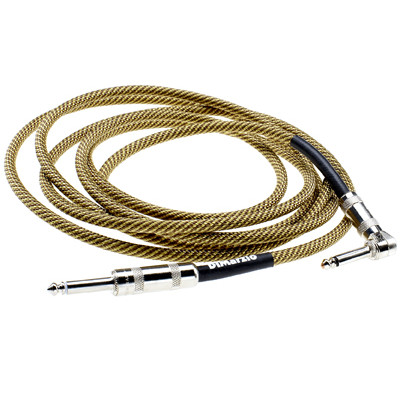 Dimarzio 18ft Overbraid Vintage Tweed Guitar/Instrument Cable - EP1718VT - Dimarzio - WCB-INDM-1718VT