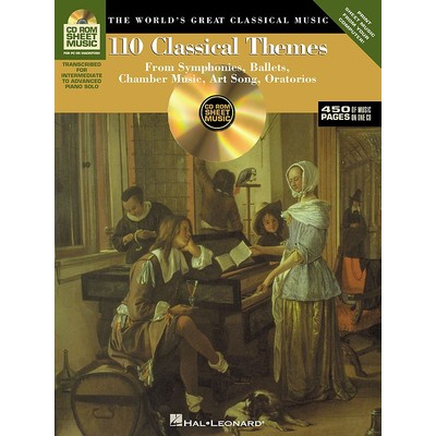 Music CD-Rom Sheet Music: 110 Classical Themes