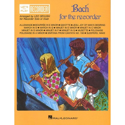 Recorder Bach for Recorder - Hal Leonard - 00710190