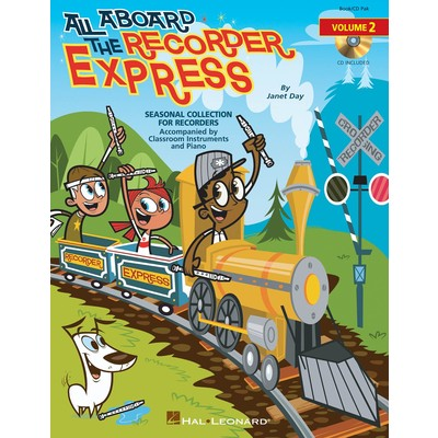 All Aboard the Recorder Express Volume 2 (Book & CD) - Hal Leonard - 09971001