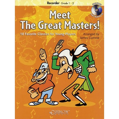 Meet the Great Masters - Soprano Recorder (Book & CD) - Hal Leonard - 44004323