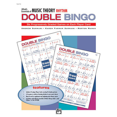 Music Essentials of Music Theory Double Bingo Game - Rhythms - Alfred Music - 00-19479