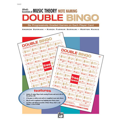 Music Essentials of Music Theory Double Bingo Game - Notes - Alfred Music - 00-19481