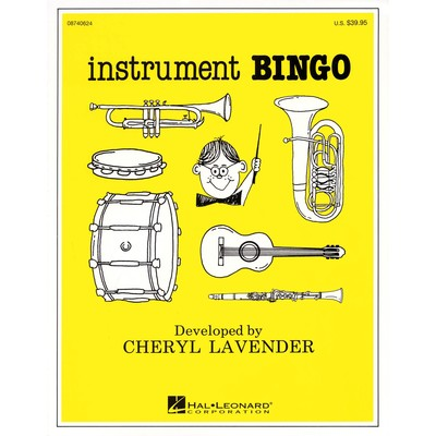 Music Instrument Bingo - Lavender (game/CD pack)