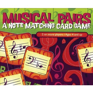 Music Musical Pairs (note matching card game)