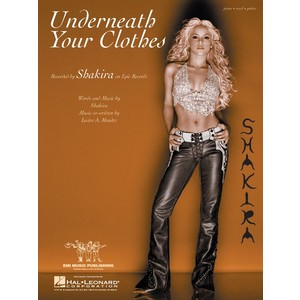 SheetMusic Underneath Your Clothes (PVG) - Shakira