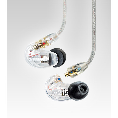 Shure SE215 Sound Isolating Earphones - Clear - Shure - SE215-CL (042406196956)