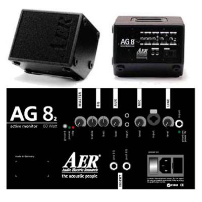 AER AG-8 60W Active Tiltback Monitor - AER - AG8-2