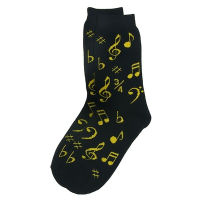 Socks Aim Socks Notes Blk/Gold - Aim - 10009