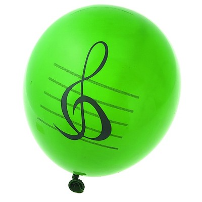 Music Balloons - Assorted Colours - 50 Pack - Aim - 11000