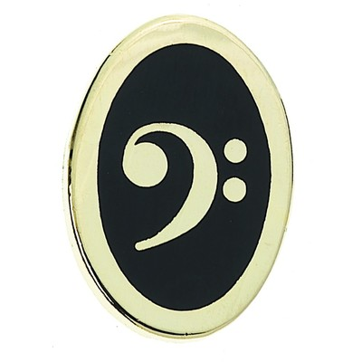 Pin Aim Bass Clef Oval - Aim - 126