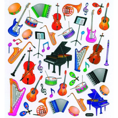 Stickers Aim Musical Instruments - Aim - 29521