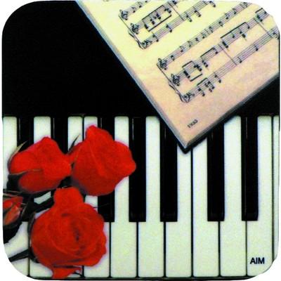 Coaster Aim Vinyl Keyboard/Rose Square - Aim - 29842