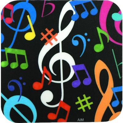 Coaster Aim Vinyl Music Notes Square - Aim - 29844