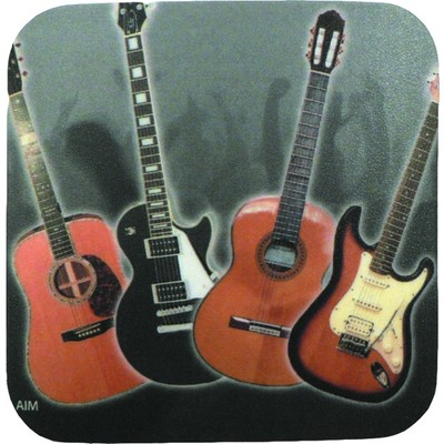 Coaster Aim Vinyl Guitar Sq - Aim - 29846