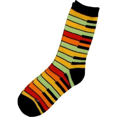 Socks Aim Yellow Rainbow Keyboard - Aim - 38012