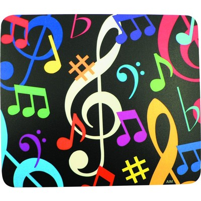 Mouse Pad Aim  Music Notes - Multi Color - Aim - 40015