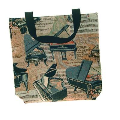 "Tote Aim 17"" Shopping  Piano Tapestry - Aim - 49556"