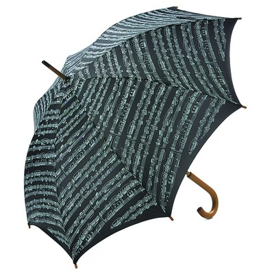 Umbrella Aim Exec Wood Handle Sheet Music Black - Aim - 5005
