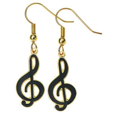 Earring Aim G-Clef Black - Aim - E81A