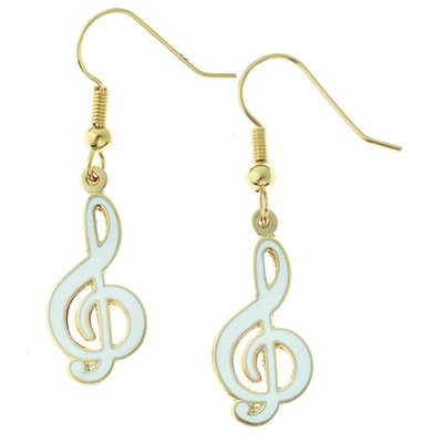 Earring Aim G-Clef White - Aim - E81B