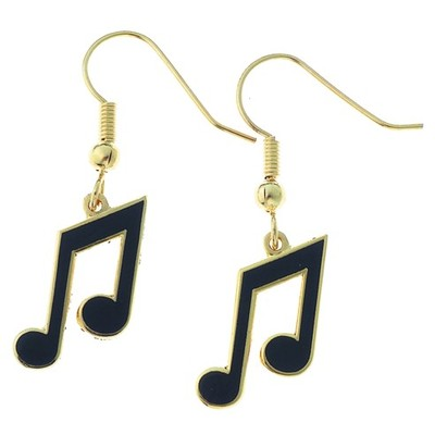 Earring Aim 8th Note Black - Aim - E82A