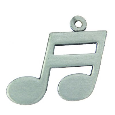 Pewter Music Keychain - Double Note - Aim - K1206