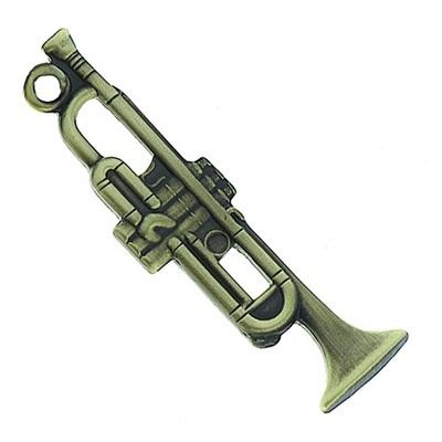 Keychain Aim Trumpet Antiq Brass - Aim - K62B