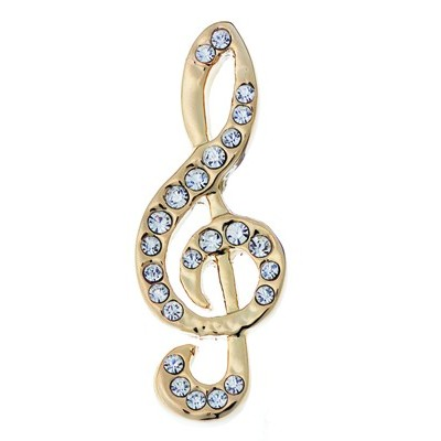 Brooch Aim Rhinestone Small G-Clef - Aim - RB9