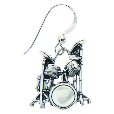 Earring Aim Silver Drum Set - Aim - SE16