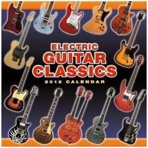 Calendar Fender 2012 Electric Guitar Classics Wall Calendar - Jannex