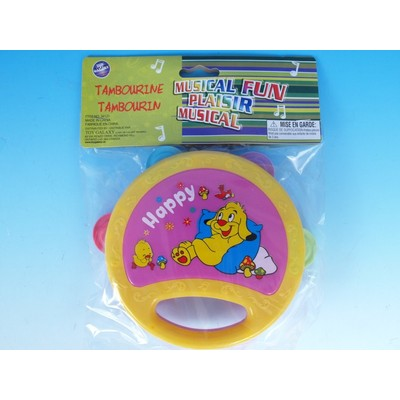 Tambourine Toy Galaxy Childrens Asst Colours - Toy Galaxy - 34121