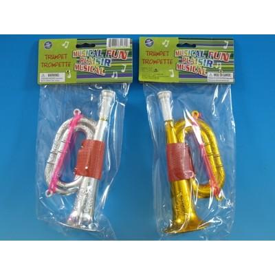 Trumpet Toy Galaxy Children's Plastic Asst Colours - Toy Galaxy - 34132