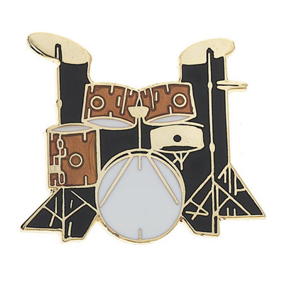 5-Piece Drum Set Pin - Gold - Aim - 52A