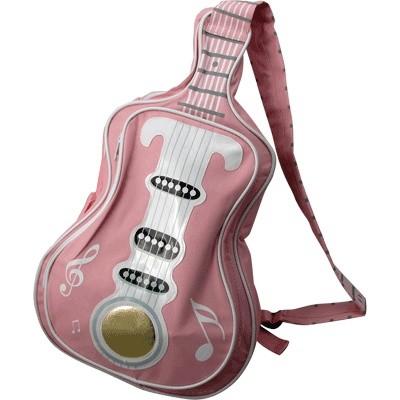 Guitar Handbag with Notes - Light Pink - Aim - 78115