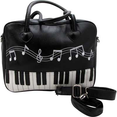 Brief Bag with Removable Strap - Keyboard Design - Aim - 78132