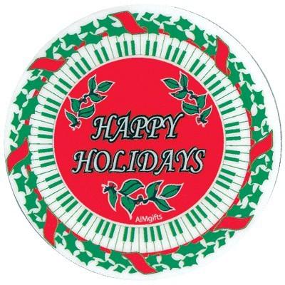 Happy Holidays Keyboard Coaster - Aim - 82469