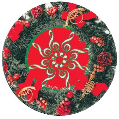 Holiday Wreath Coaster with Instruments - Aim - 82473
