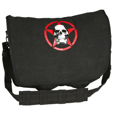 Washed Logo Bag Star and Scull Black