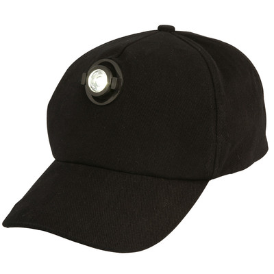 L.E.D Light Cap Black