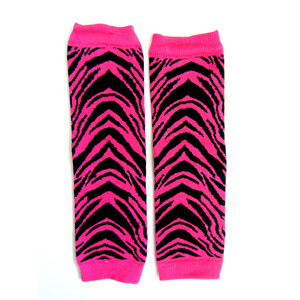 Legwarmers - Hot Pink Zebra