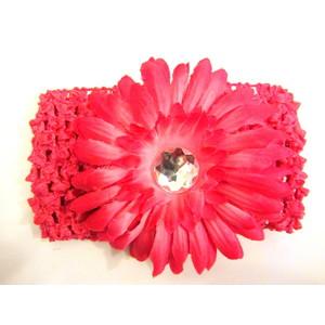 Flower Headband - Hot Pink