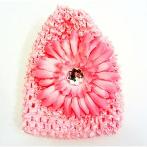 Infant Flower Hat - Soft Pink
