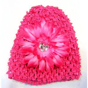 Infant Flower Hat - Hot Pink