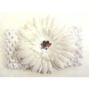 Flower Headband - White